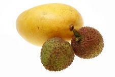 Free Mango And Litchi Royalty Free Stock Image - 14321876