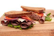 Roast Beef Sandwich Stock Photos