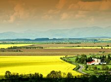 Free The Coloured Fields Stock Photo - 14322380