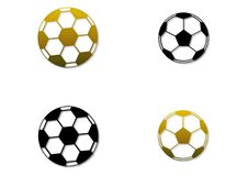 Free Set Of Four Soccer Balls Royalty Free Stock Photos - 14322438