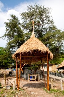 Resort Hut In Thailand. Stock Photo