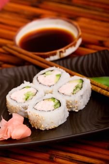 Free California Rolls Royalty Free Stock Photo - 14322745