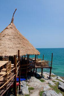Resort Hut In Thailand. Stock Photos