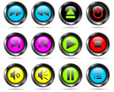 Free Vector Player Buttons Stock Image - 14323241