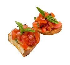 Free Toast With Tomatoes Royalty Free Stock Photo - 14323375