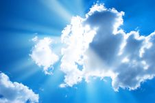 Free The Blue Sky And Clouds Royalty Free Stock Photography - 14323607