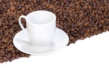 Free Beans And Empty Cup Royalty Free Stock Photography - 14323717