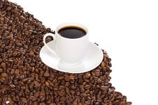Free Cup With Coffee And Beans Stock Photography - 14323732