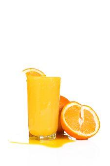 Yellow Orange On White Background
