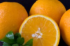 Oranges Close-Up Royalty Free Stock Images