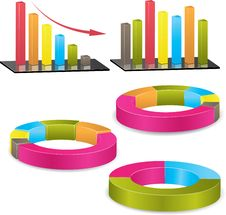 Business Graph. Vector Illustration Stock Photography