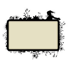 Free Frame With Floral Vignette Stock Image - 14324021