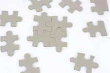 Free Four Puzzles Royalty Free Stock Photo - 14324095