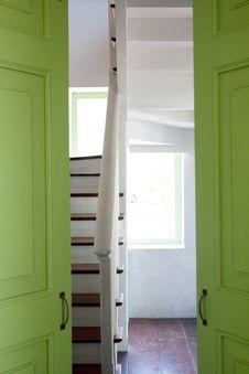 Free Green Doors. Royalty Free Stock Image - 14324096
