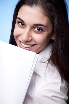 Businesswoman With Documents Stock Photos