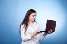 Free Businesswoman With Laptop Royalty Free Stock Photo - 14324505