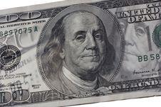 Free Abstract Hundred Dollars Bill Stock Photo - 14324580