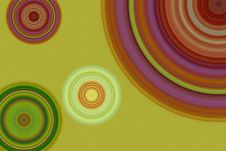 Free Colorful Retro Circle Backround Stock Photos - 14324923