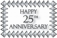 Free Happy 25th Anniversary Illustration Royalty Free Stock Photography - 14325027