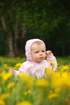 Free Little Girl In Park Royalty Free Stock Image - 14325066
