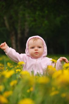 Free Little Girl In Park Royalty Free Stock Photo - 14325105
