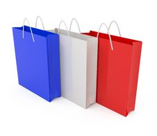 Free Paper Bags Colored Royalty Free Stock Image - 14325166