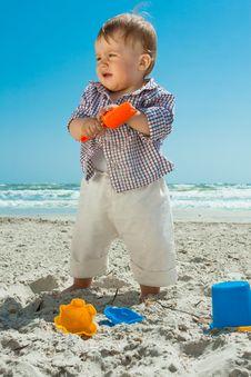 Free Child On A Beach Stock Photos - 14325373