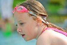 Beautiful Young Swimmer Royalty Free Stock Photo