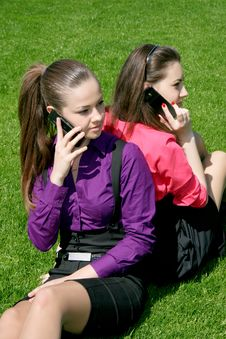 Free Businesswomen Calling By Phone Stock Photography - 14326302