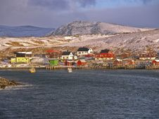 Norwegian Fishing Village Royalty Free Stock Images