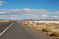 Highway With Salt And Blue Sky Stock Image