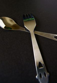 Free Spoon And Fork Stock Images - 14327334