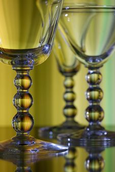Free Detailed Wine Glass Stem Royalty Free Stock Image - 14327336