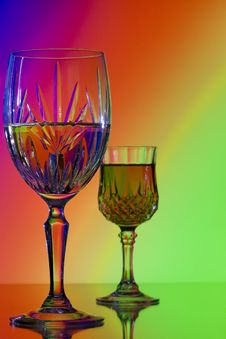 Free Small And Large Wine Glass Royalty Free Stock Image - 14327416