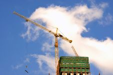 Free Tower Crane And Construction Stock Photography - 14328032