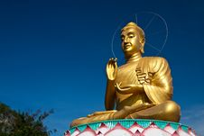 Free A Big Golden Buddha Royalty Free Stock Image - 14328116