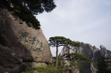 Free Huangshan Welcoming Pine And Heavenly Capital Peak Royalty Free Stock Photo - 14328155