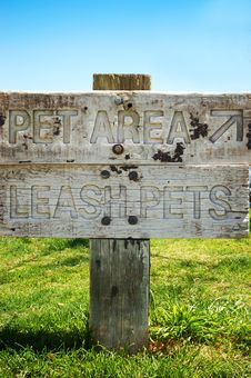 Free Pet Area Sign Royalty Free Stock Images - 14328429