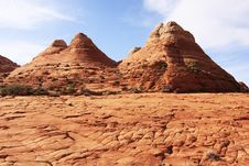 Free Sandstone Formations Near The Wave Stock Photography - 14328722