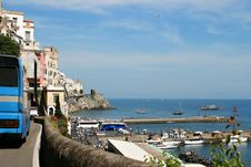 Free Driving Along Italy S Amalfi Coat Stock Image - 14329011