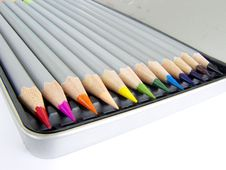 Free Color Pencil Set Royalty Free Stock Photo - 14329085