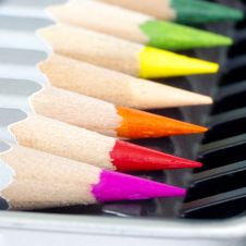 Free Color Pencil Set Royalty Free Stock Photo - 14329095