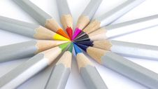 Free Color Pencils 16:9 Stock Photography - 14329132