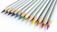 Free Color Pencils 16:9 Stock Image - 14329171