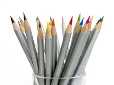 Free Color Pencils In Glass Royalty Free Stock Image - 14329176