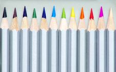 Free Color Pencils In Pencilbox Stock Image - 14329221
