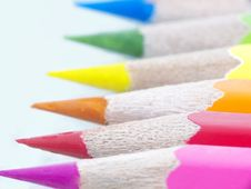 Free Color Pencils Macro Royalty Free Stock Photo - 14329305