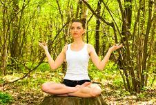 Free Pretty Girl Doing Yoga Stock Photos - 14329393