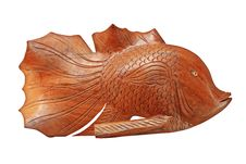 Free Wood Carve Fish Stock Photography - 14329652