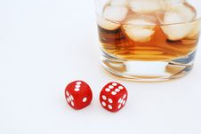 Free Whisky And Dices Stock Image - 14329701